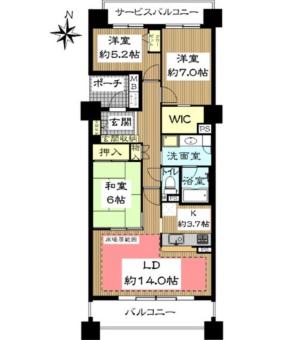 グランドメゾン大府花咲台3番館702号室